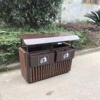 献县鑫建供应户外分类垃圾箱 公园 游乐场 广场果皮箱 室外钢板垃圾桶