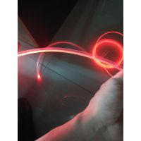 超亮3mm带侧裙边透明光纤氛围灯,汽车卡边导光条,发光材料
