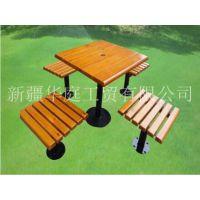 新疆休闲椅/厂家直供塑木休闲椅美观耐用/哈密公园椅华庭美居