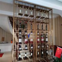 伟天盛专业定制加工古典中式不锈钢酒柜黑钛304不锈钢恒温酒柜