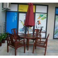 清远户外组合休闲桌椅,深圳室外餐桌长椅,园林花园家具