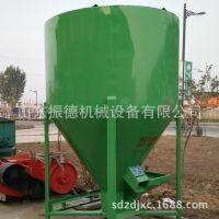 供应立式饲料搅拌机组 畜牧养殖机械  振德 饲料粉碎混合一体机