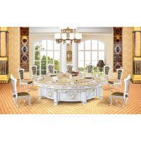 厂家供应古典中式电动餐桌(花开富贵A)
