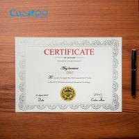 布谷鸟a4烫金获奖优秀员工荣誉证书内芯毕业结业聘书奖状纸授权证特种纸