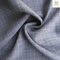 全涤纶高品质黑白千鸟格面料经典大气时装面料裤装面料