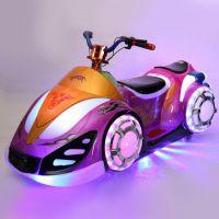 新款发光幻影摩托车 户外亲子游乐玩具车 广场电动儿童遥控车