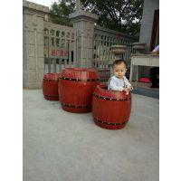 仿木纹圆形花桶 道路绿化工程专用组合式景观花箱花桶