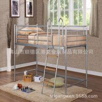 厂家直销 简约 宿舍床 单人单层床 儿童公寓铁床 欢迎订做