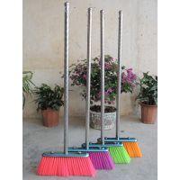 厂家供应 畅销型不锈钢扫帚 扫把 笤帚(螺纹型圆管柄长75cm)