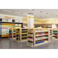 合肥精品超市货架 木质单面双面展架【方钰货架定做】