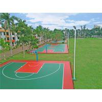 供应百色市学校室外塑胶篮球场 网球场 包工包料 飞跃体育