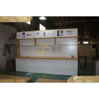 江西小米授权店展示家具,小米木纹系列中岛体验台配件柜