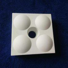 淄博厂家供应92氧化铝含量半圆凸起磨煤机耐磨陶瓷衬板(70*70*25)