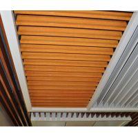 厂家供应木纹铝方通弧形方通造型批发定制方通吊顶防火U槽铝方通