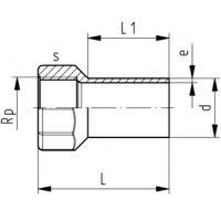 一级代理 瑞士+GF+ PVDF 内牙接头 热熔焊 广州茨莱 现货销售