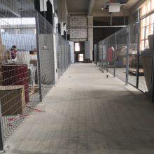机器设备防护栏定做 广州电商仓储分隔网规格 佛山货仓阻隔网现货
