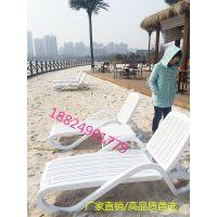 户外折叠躺椅沙滩折叠凳子室内泳池塑料折叠凳子单人折叠床
