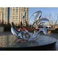 不锈钢广场镜面抽象雕塑