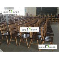 厂家供应通用电气中国技术中心餐厅桌椅 员工实木餐桌椅定制