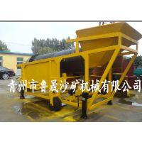 移动式淘金设备、山东鲁晟淘金设备、选金设备、旱地移动淘金设备