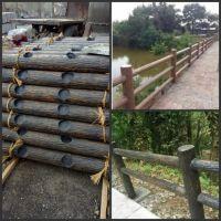 水泥仿木护栏 钢筋水泥仿木栏杆 河道混凝土护栏