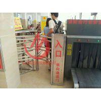 车站旋转闸 半高单向旋转不锈钢闸门 手动单向车站通道门整套门