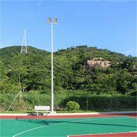 佛山校园篮球场灯杆尺寸 小区公园路灯杆安装方法 柏克灯具配置方法