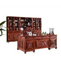 名琢世家现货供应红木刺猬紫檀新中式三组合书柜