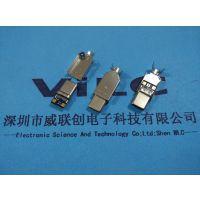 type C 3.1 USB 拉伸带板公头【三件式】转2.0、3.0