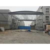 绍兴县厂家制造伸缩遮阳棚布钢结构活动雨蓬推拉活动帐篷