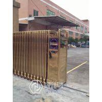 黄江优质不锈钢伸缩门/庭院门/电动遥控门厂家安装定做
