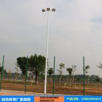 湖南省篮球场灯杆厂家 郴州户外篮球场照明灯杆批发 镀锌管8米灯柱防锈