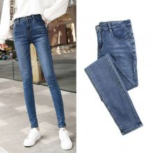 广东工厂直销女士牛仔长裤外贸库存女士牛仔长裤批发低至三元一条