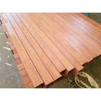 2017新品201不锈钢红木纹方管、60*60*1.5*6米装饰红木纹方管