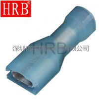HRB品牌 187全绝缘尼龙耐高温直形插簧端子_187绝缘冷压接线端子