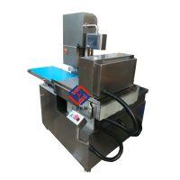 电动不锈钢切肉片机,全自动锯牛排机,连续性猪扒切片机