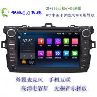 广东深圳捷友安卓6.0系统8英寸丰田-卡罗拉汽车导航高清液晶屏车载电脑显示器总代直销