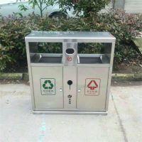 沧州志鹏供应户外镀锌板垃圾箱 分类不锈钢垃圾箱小区厂家批发