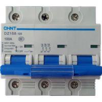 供应正泰小型塑壳断路器DZ158-125 3P 100A