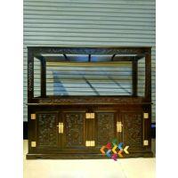 鱼缸柜地柜 隔断柜 实木柜 原木家具 水族箱底柜实木鱼缸柜