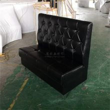 现代皮革软包沙发-拉点造型油腊皮餐厅卡座沙发-广州永欣家具厂