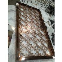 浙江杭州大型不锈钢屏风花格售楼部安装售楼部安装 镜面玫瑰金造型装饰工程厂家报价