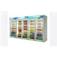安德利厂家订制五门饮料柜 啤酒牛奶冷藏柜 多门冷冻饮料柜展示柜BFH-5