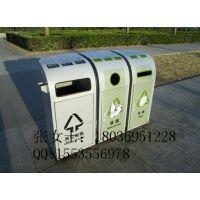 厂家供应福建福州太阳能广告垃圾箱 LED果皮分类垃圾箱定制