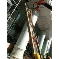 13米高超大超高超长双钢化中空超白玻璃更换安装