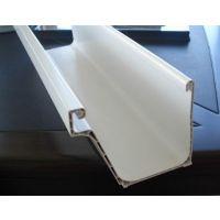 高青PVC树脂雨水管 PVC檐沟 双壁檐槽 天沟厂家批发价格