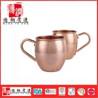 不锈钢纯铜马克杯 电镀鼓形杯 304莫斯科骡子杯定制