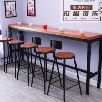 西安咖啡厅吧台桌实木高脚吧台桌设计定做