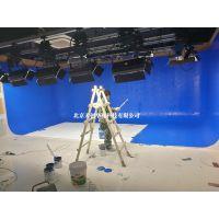 虚拟演播室虚拟演播系统虚拟背景抠像制作虚拟演播室蓝箱搭建