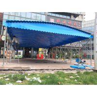 杭州下沙区户外休闲活动雨棚布仓库推拉遮阳蓬伸缩折叠式帐篷厂家热销